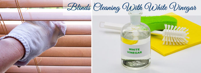 Blinds Cleaning with White Venegar