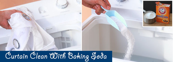 Curtain Cleaning with Baking Soda