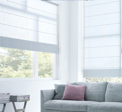 Roman Blinds Blue Bay